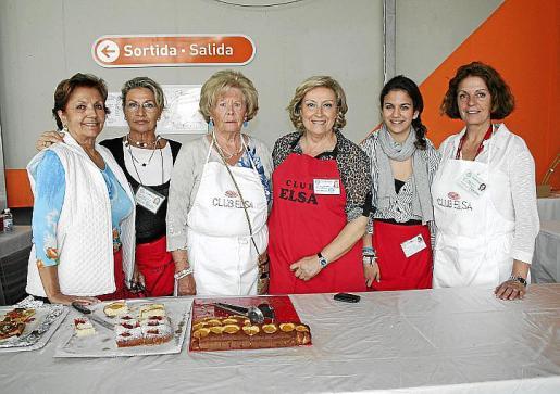 Manoli Barroso, Margarita Thomás, Elena Lara, Rafi Córdoba, Marta Ponte y Francisca Llabrés.