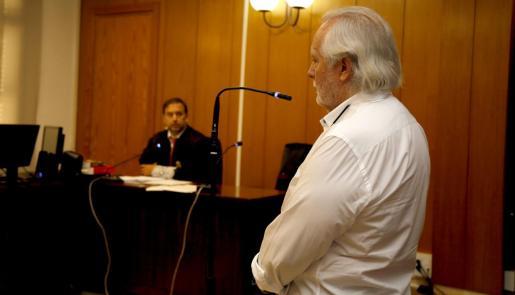 Bartolomé Cursach declarando en el juicio por injurias al magistrado Manuel Penalva.