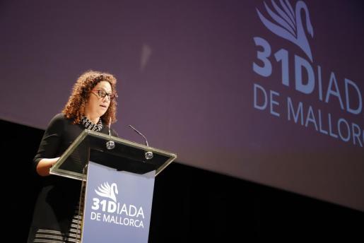 Catalina Cladera, durante su discurso.