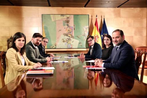 Equipo negociador de ERC y el PSOE.