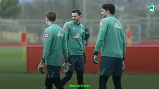 Imagen del entrenamiento del Werder Bremen en la Ciudad Deportiva Antonio Asensio facilitada por el club alemán.