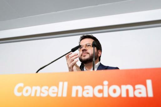El coordinador nacional de Esquerra Republicana de Catalunya (ERC), Pere Aragonés.
