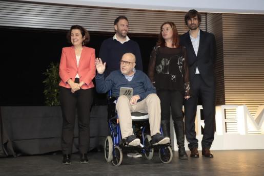 Mateo Cañellas Roca, en silla de ruedas, durante los Premios Esports IB en el que recogió el premio honorífico, el pasado 13 de diciembre.