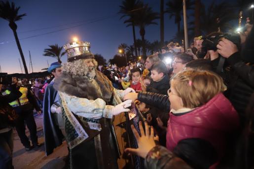 Imagen de la noche más mágica del año en Palma.