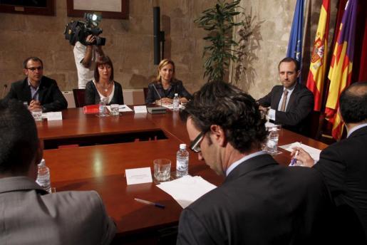 Imagen de un momento de la reunión celebrada esta mañana en el Consolat de Mar.