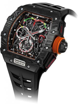 El reloj es un Richard Mille 50-03 MCLaren F1.