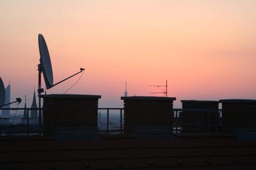 Imagen de las azoteas de edificios.