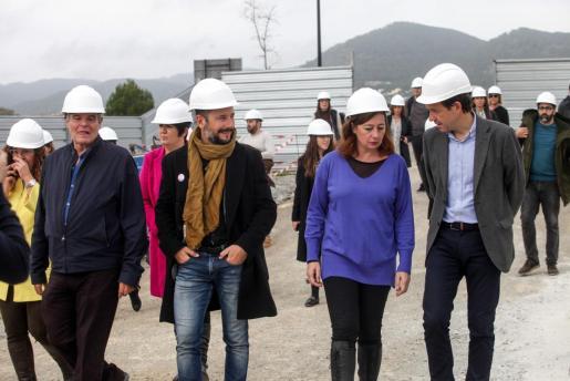 Francina Armengol en Ibiza durante el acto de primera piedra para la construcción de VPO.