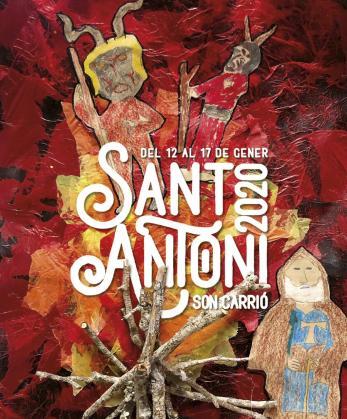 Cartel de las fiestas de Sant Antoni en Son Carrió.