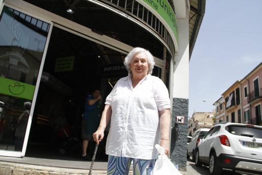 Pilar de Borbón era una asidua de los mercados de Palma.