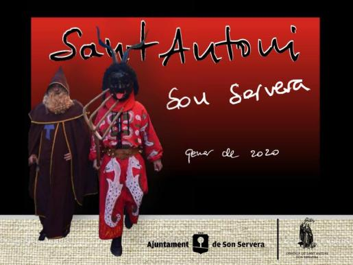 Cartel de las fiestas de Sant Antoni en Son Servera.