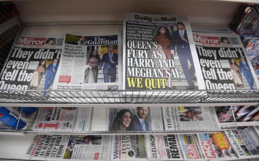 Los duques de Sussex han copado las potadas de los periódicos británicos.