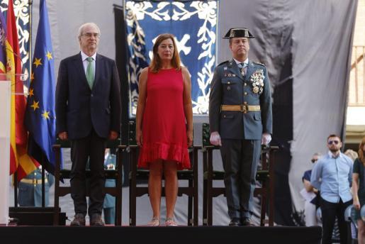 Morey destacó la sensibilidad de la Benemérita con el catalán en la fiesta de la patrona del pasado octubre.