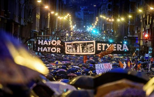 Imagen de una marcha por los presos de ETA.