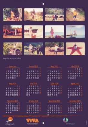 Portada del calendario con los doce meses y sus fotos.
