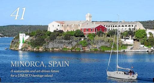 Imagen de la Illa del Rei, la sede del proyecto Hauser & Wirth, con la que el rotativo ilustra su recomendación de Menorca.