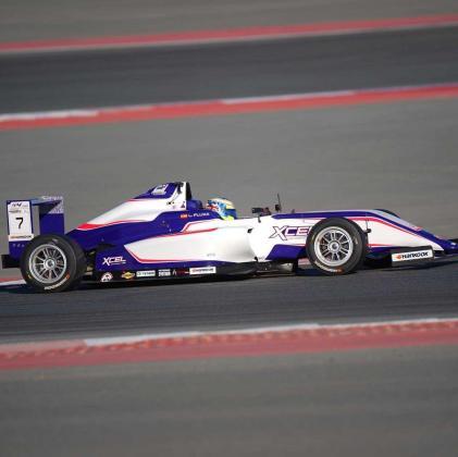 Lorenzo Fluxá (Xcel Motorsport), durante una de las mangas de carrera en Dubai.