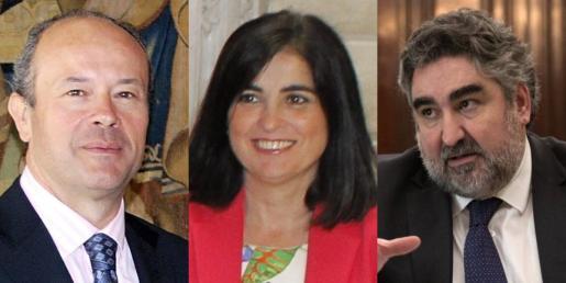 Juan Carlos Campo, ministro de Justicia, Carolina Darias, ministra de Política Territorial, y Rodríguez Uribes, ministro de Cultura.