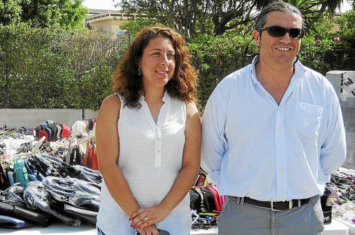 La regidora Angélica Pastor junto a su director de Área de la Policía Local de Palma, Martí Capó.