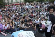 La manifestación del aniversario del 15-M en imágenes