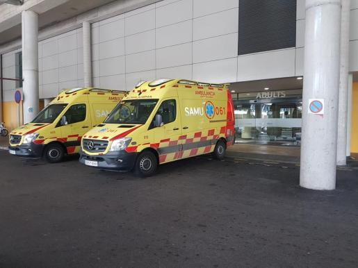 El hombre herido fue trasladado hasta el hospital de Son Llàtzer, donde fue operado.