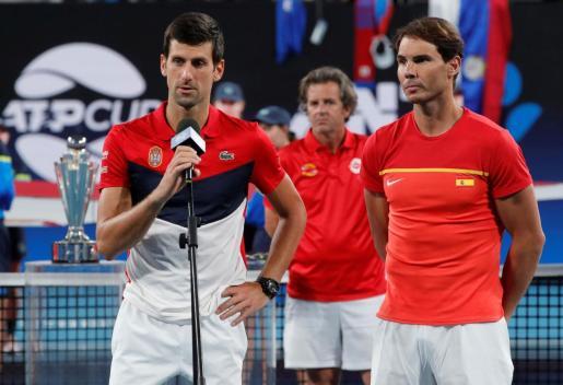 Novak Djokovic habla después de haber ganado la ATP Cup, en la que tenía como rival a Rafael Nadal.