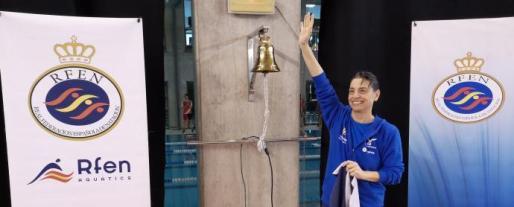 Ramona Guillén celebra su plusmarca nacional y europea Máster.