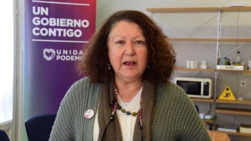 Mae de la Concha, consellera d'Agricultura y secretaria general de Podem Baleares.