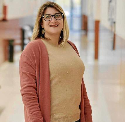 Tatiana Casado, presidenta de Ben Amics, posa en la UIB.