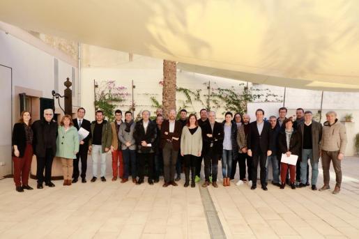 Momento de la presentación del nuevo servicio de transporte para el Llevant y el Migjorn de Mallorca.