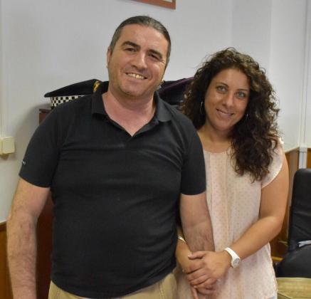 El exdirector de Área de la Policía Local de Palma, Martí Capó, junto a la exregidora del cuartel de San Fernando, Angélica Pastor.