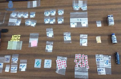 Droga incautada al individuo detenido este lunes en Can Pastilla.
