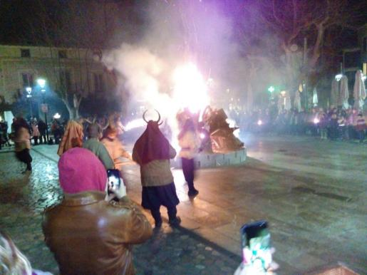 Celebración de Sant Antoni en Sóller.