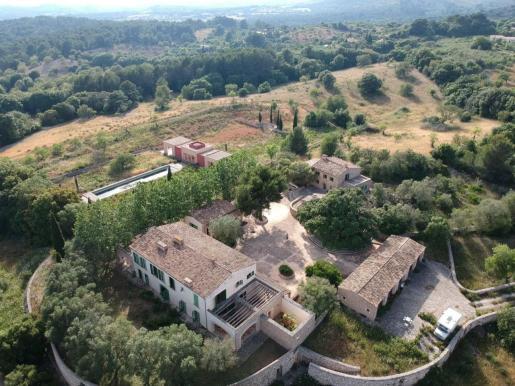 Imagen aérea de la casa de Boris Becker en Artà.