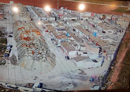 Imagen facilitada por el consistorio de la zona del poblado que será desmantelada.