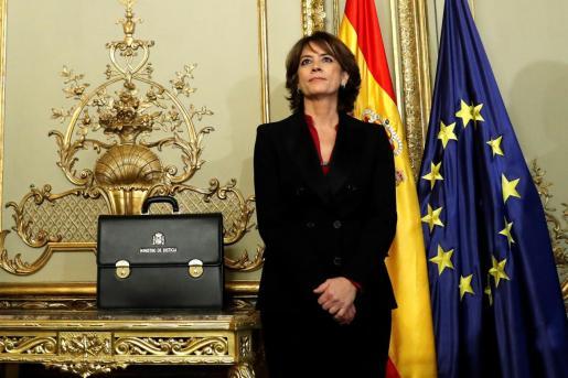 La exministra de Justicia, Dolores Delgado, ha sido propuesta fiscal general del Estado por el Gobierno de Pedro Sánchez.
