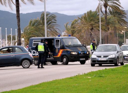 Imagen de archivo de un control policial.