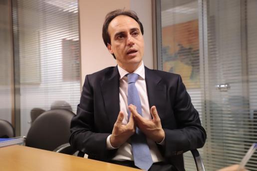 Álvaro Gijón, durante la entrevista de este jueves en Ultima Hora.