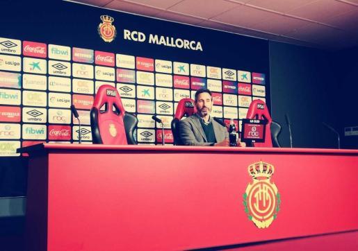 Vicente Moreno durante la rueda de prensa previa al encuentro del próximo domingo ante el Valencia.