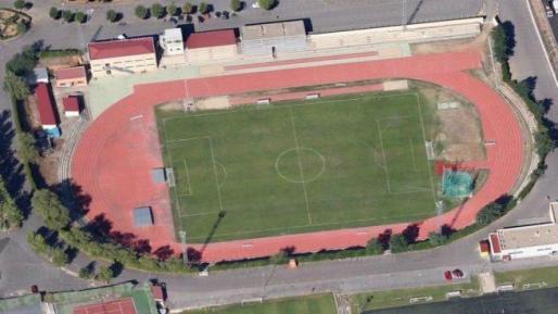 Imagen del campo de fútbol de las Pistas, en Salamanca.