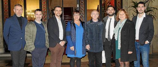 Lluís Segura, Carlos Cabrera, Llorenç Carrió, Bel Busquets, Lleonard Muntaner, Jordi Prunés, Caterina Mas y Sebastià Salas.