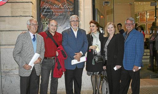 Pere Riudavets, Carles Virgili, Pere Bujosa, Paz Juan, María Perelló y Mateu González.