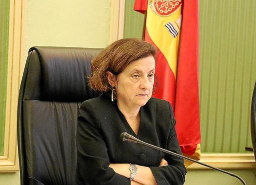 Imagen de archivo de la consellera Santiago, en una comparecencia.