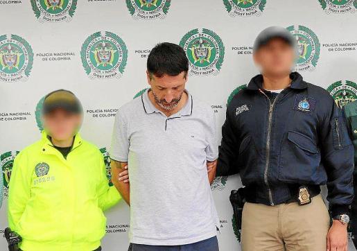 El empresario Carlos García Roldán, 'Charly', tras ser detenido en Colombia.