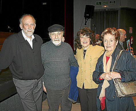 Juan Carrero, Cándido Ballester, Susana Volosin y Josefina Espil.