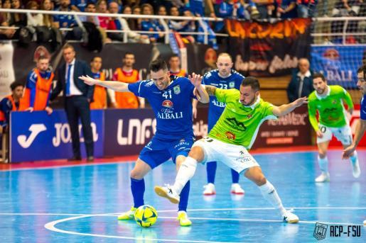 El Palma Futsal hizo méritos para llevarse la victoria.