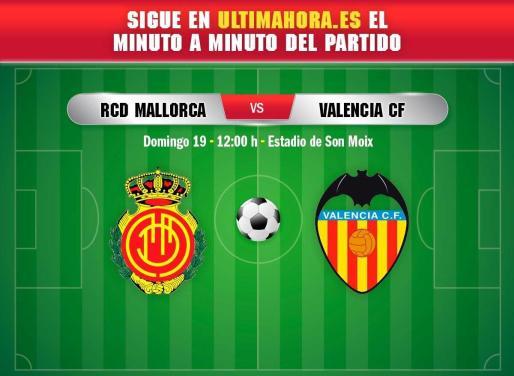 El Real Mallorca recibe al Valencia con la intención de retomar la senda de la victoria seis jornadas después.