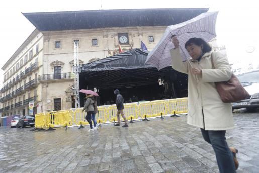 La borrasca 'Gloria' afecta Mallorca con lluvia, viento y descenso de temperaturas.