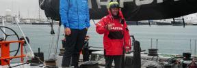 El 'Trifork', ante condiciones del Océano Sur en la Vuelta a Mallorca