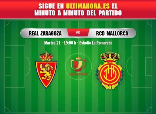 El Real Mallorca visita al Real Zaragoza en los dieciseisavos de final de la Copa del Rey.